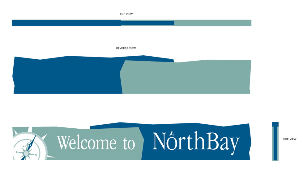 Welcome to NorthBay sign.
