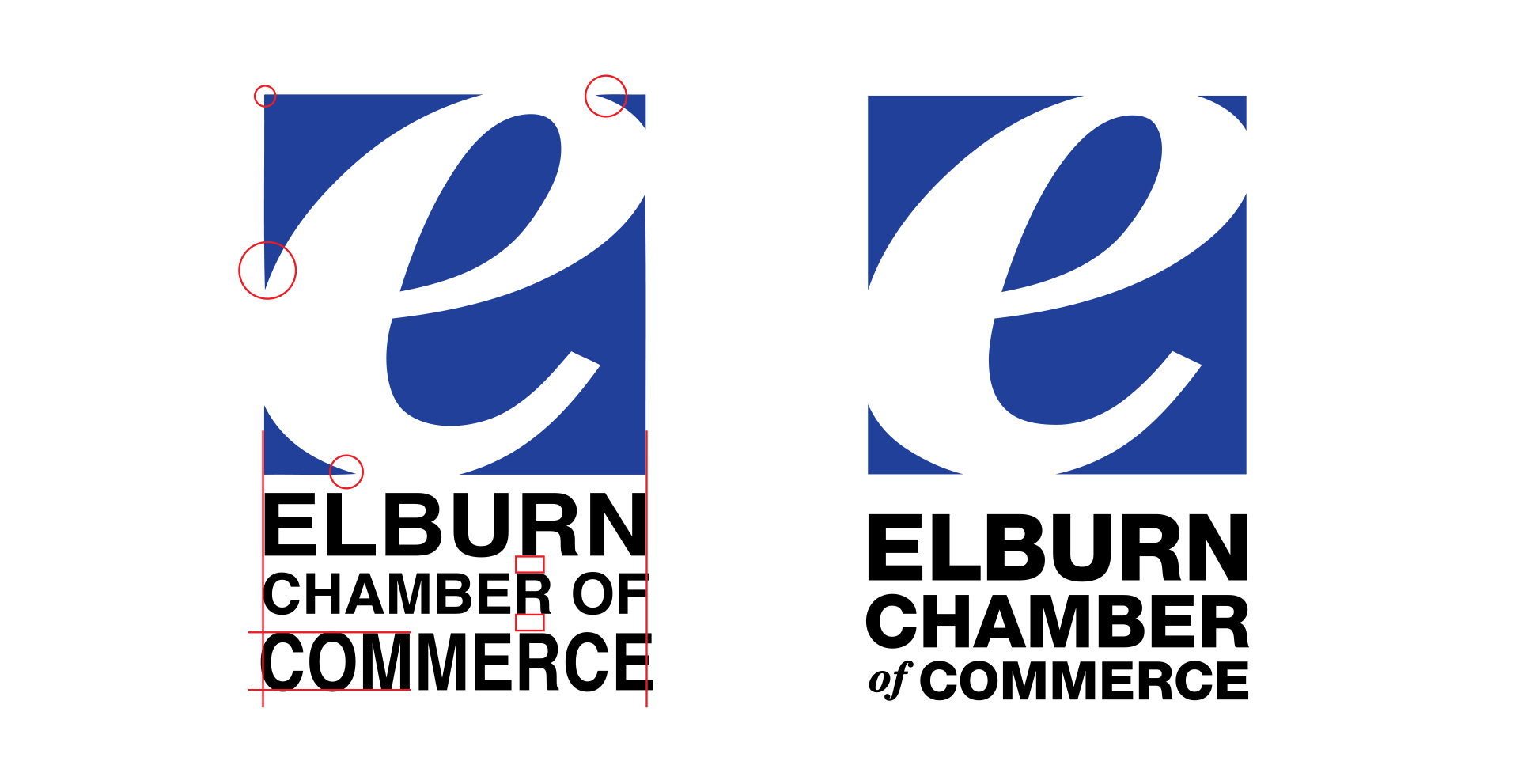 Elburn Chamber Logo Before/After