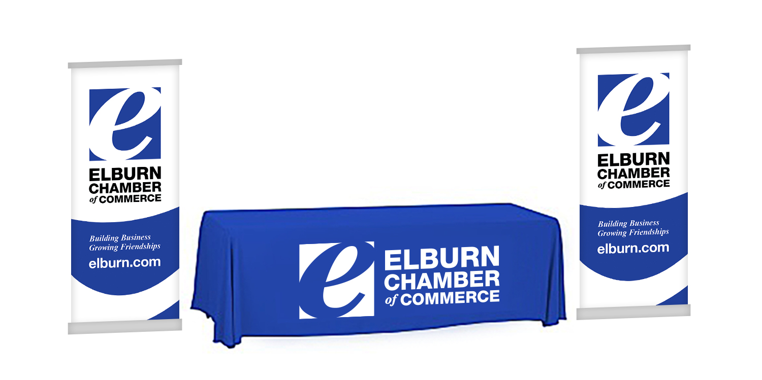 Tablecloth and Vertical Banners