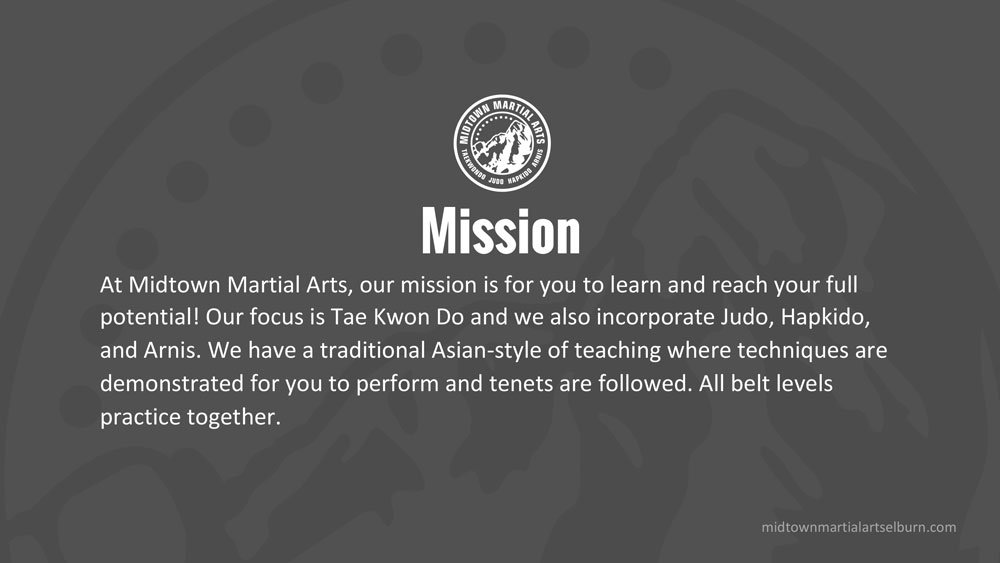 Midtown Martial Arts PowerPoint
